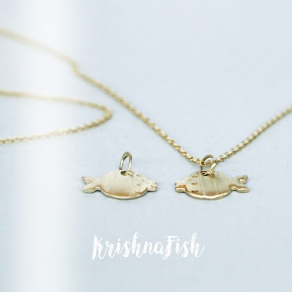 Yellow Gold Fish Pendant _ maschio gioielli milano (1)