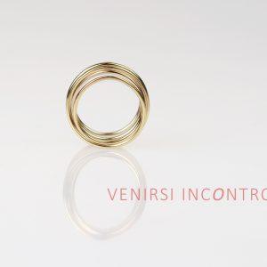 Yellow gold spring ring _ maschio gioielli milano