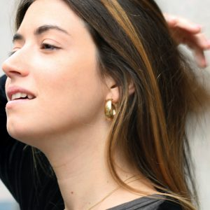 Wide hoop earrings in yellow gold _ MEDIUM SIZE _ maschio gioielli milano