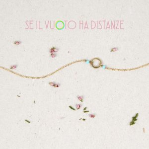 Thin gold chain necklace with turquoise beads and empty circle _ maschio gioielli milano