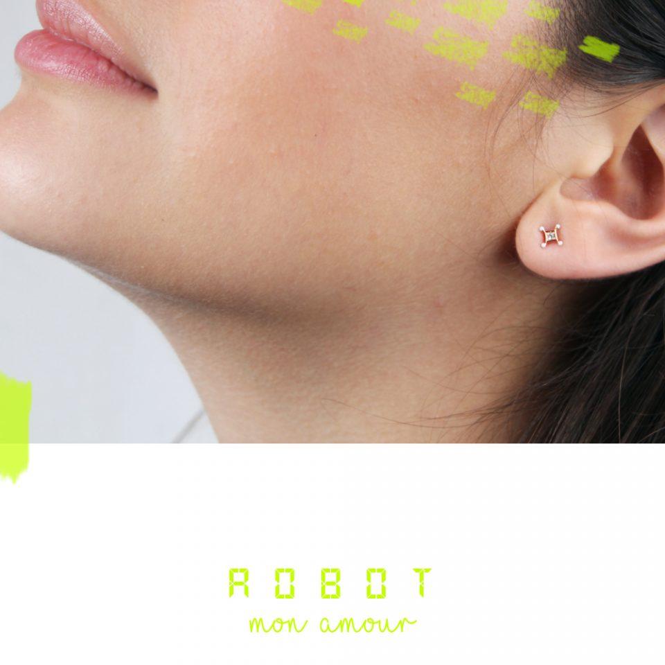 Robot mon amour. Earrings