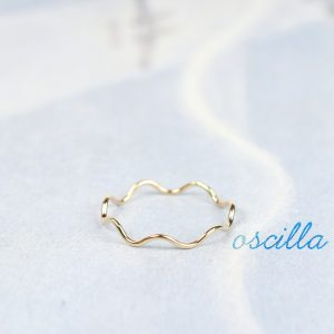 Stacking wavy subtle wire band ring _ maschio gioielli milano