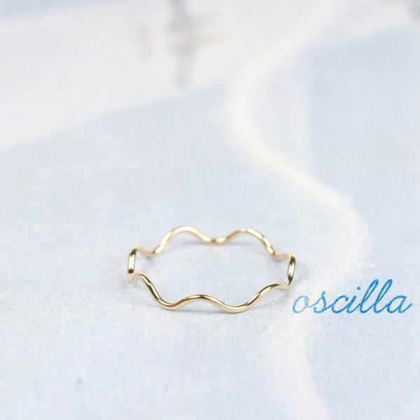 Anello componibile sottile ad ondina in oro giallo  _ maschio gioielli milano