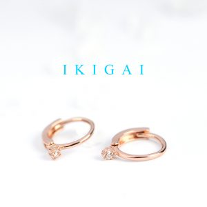 Extra small hoop earrings in pink silver with cubic zirconia _ maschio gioielli milano