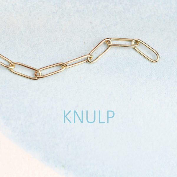 Rectangle link chain bracelet handmade in yellow gold _ maschio gioielli milano (2)