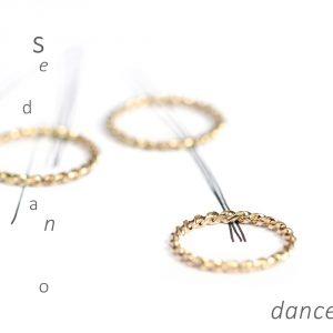 Anelli componibili sottili in filo ritorto d'oro giallo _ maschio gioielli milano