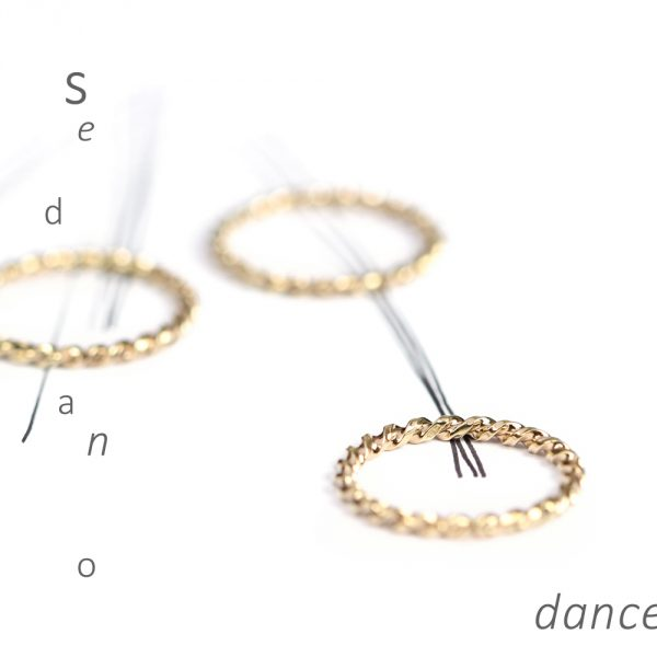 Stacking twisted band ring handmade in yellow gold _ maschio gioielli milano (2)