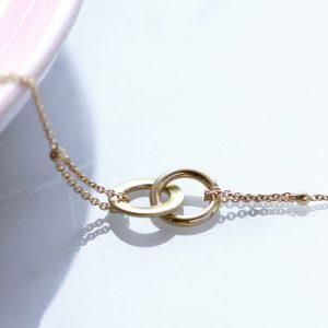 Gold infinity tiny chain bracelet _ maschio gioielli milano
