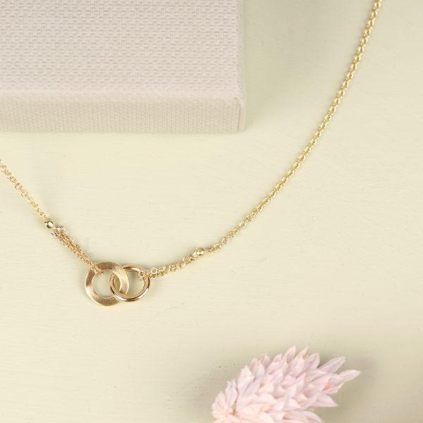 Gold thin chain necklace with infinite element _ maschio gioielli milano (6)