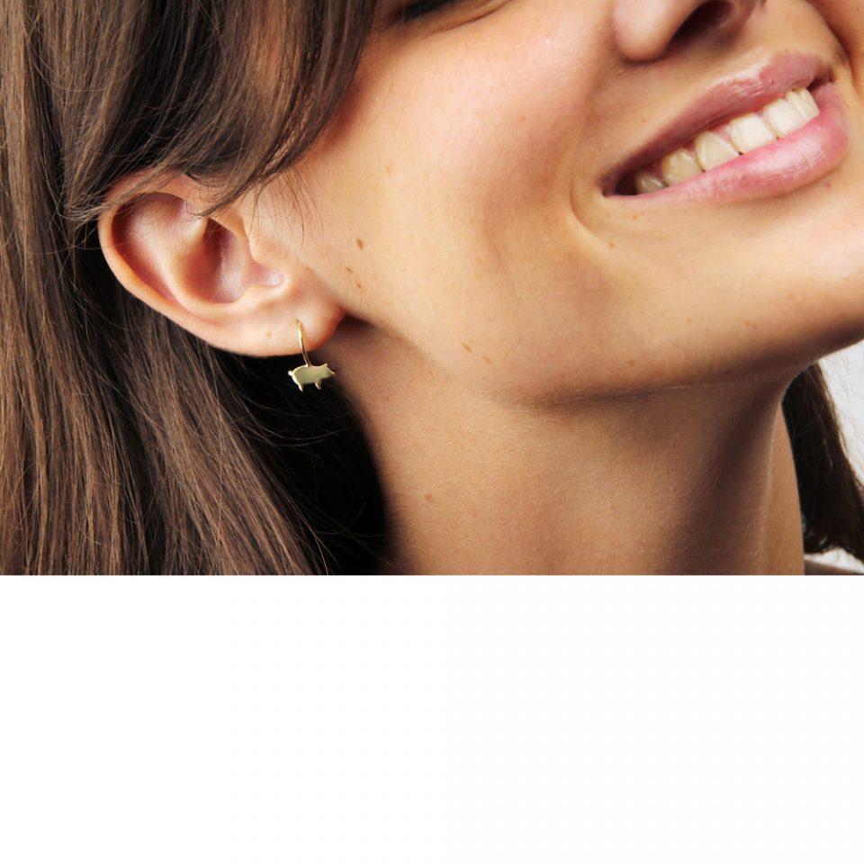 Cochon bleu. Earrings