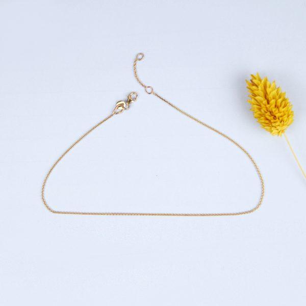 Cavigliera in catena d'oro giallo sottile _ maschio gioielli milano