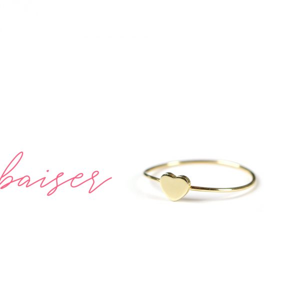 Customized stacking tiny heart ring in yellow gold _ maschio gioielli milano (1)