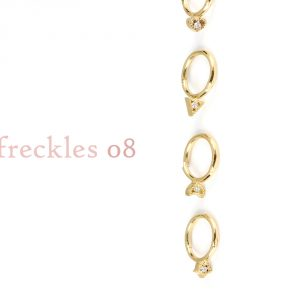 Small hoop huggie piercing earrings in gold and brilliant diamonds _ 08 _ maschio gioielli milano
