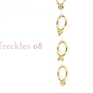 Orecchini a cerchietto piercing in oro giallo e diamanti _ 08 _ maschio gioielli milano