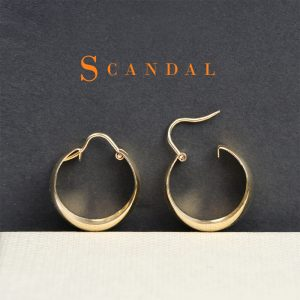 Small wide hoop earrings in yellow gold _ maschio gioielli milano