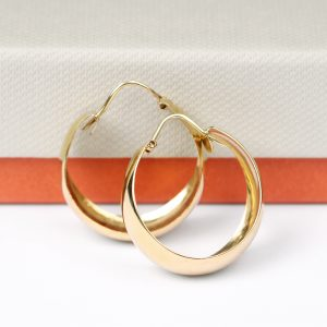 Wide hoop earrings in yellow gold _ maschio gioielli milano