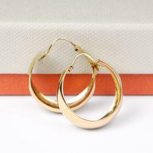 Wide hoop earrings in yellow gold _ maschio gioielli milano