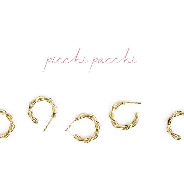 Small twisted hoop earrings handmade in yellow gold _ maschio gioielli milano (7)