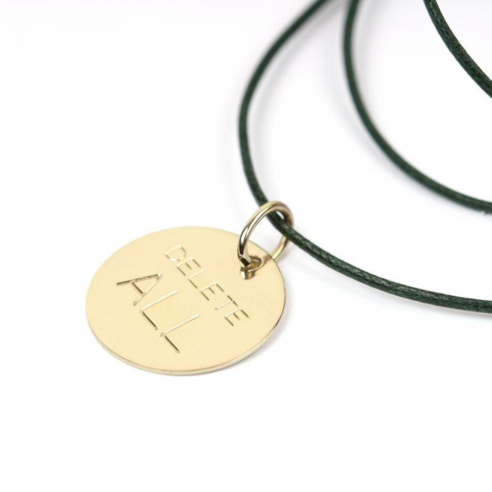 Wednesday go round. Gold pendant