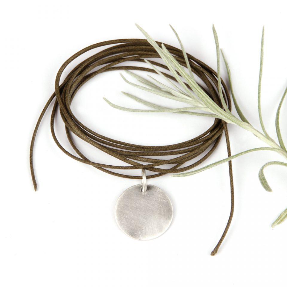 Wednesday go round. Silver pendant