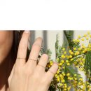 Anello solitario realizzato con catenina sottile d'oro e diamante _ maschio gioielli milano