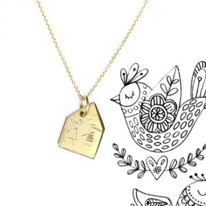 Gold chain necklace with house shaped pendant to be customized _ maschio gioielli milano