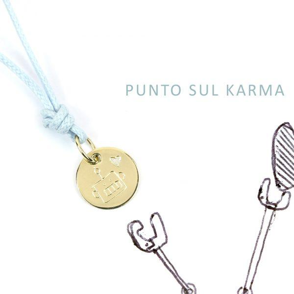 Ciondolo tondo piccolo in oro da personalizzare con iniziali, simboli, nomi _ maschio gioielli milano