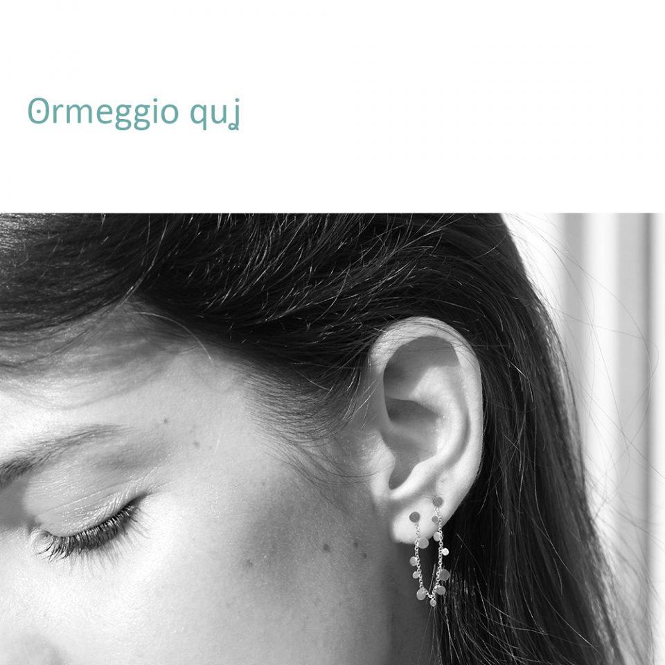 ʘrmeggio quʝ. Single earring